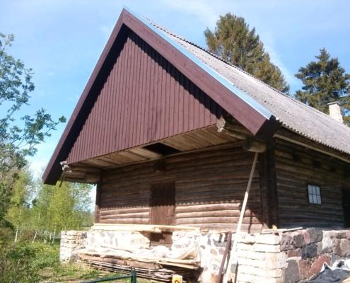 Talumaja renoveeritud otsaviil